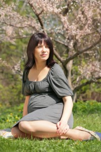 pregnant woman blossom(dreamstime 5244804)