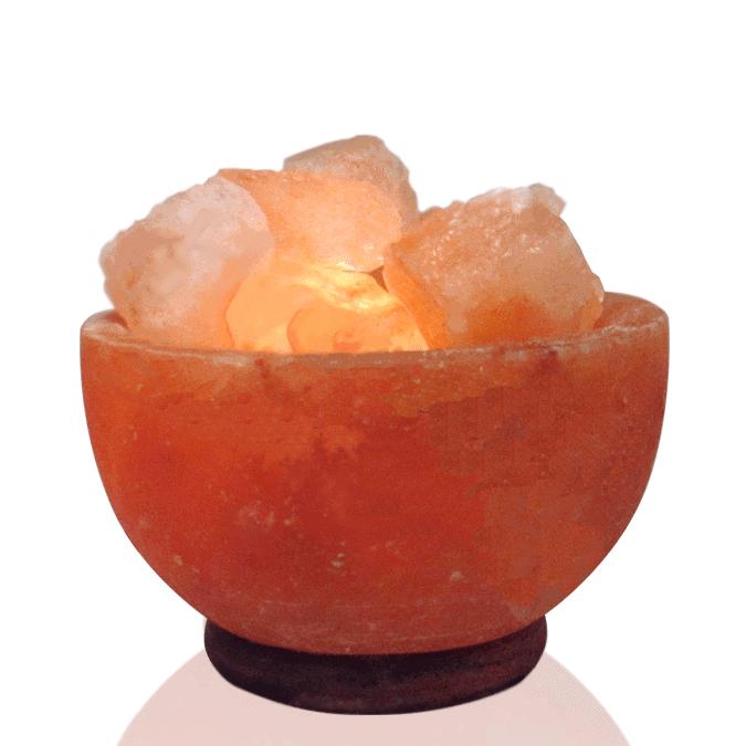Fire Bowl shape salt lamp - Dr Rosanna Mundy PhD